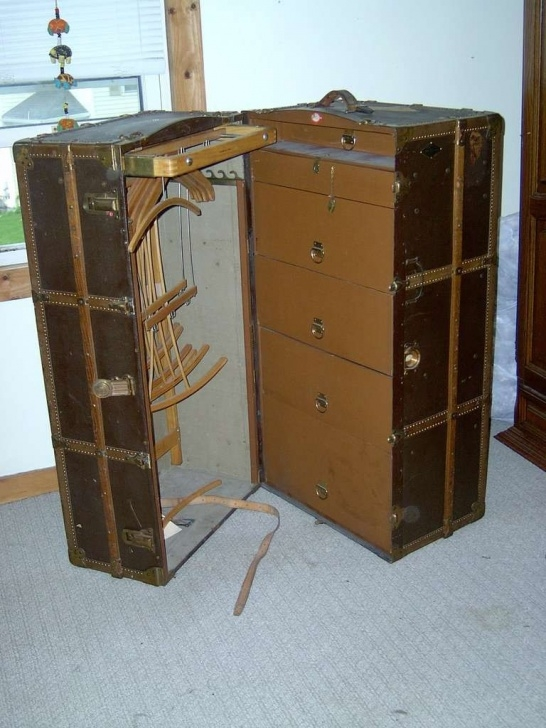 Wonderful Henry Likly Travel Wardrobe Trunk Ca. 1911 | Ideas For The House Steamer Trunk Wardrobe Ideas Image
