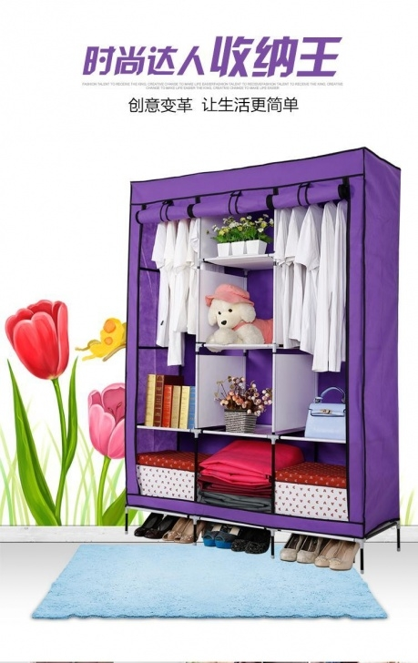 Wonderful King Size Wardrobe Diy Waterproof Dust Cover Curtain Cabinet Prince Diy Wardrobe Malaysia Picture