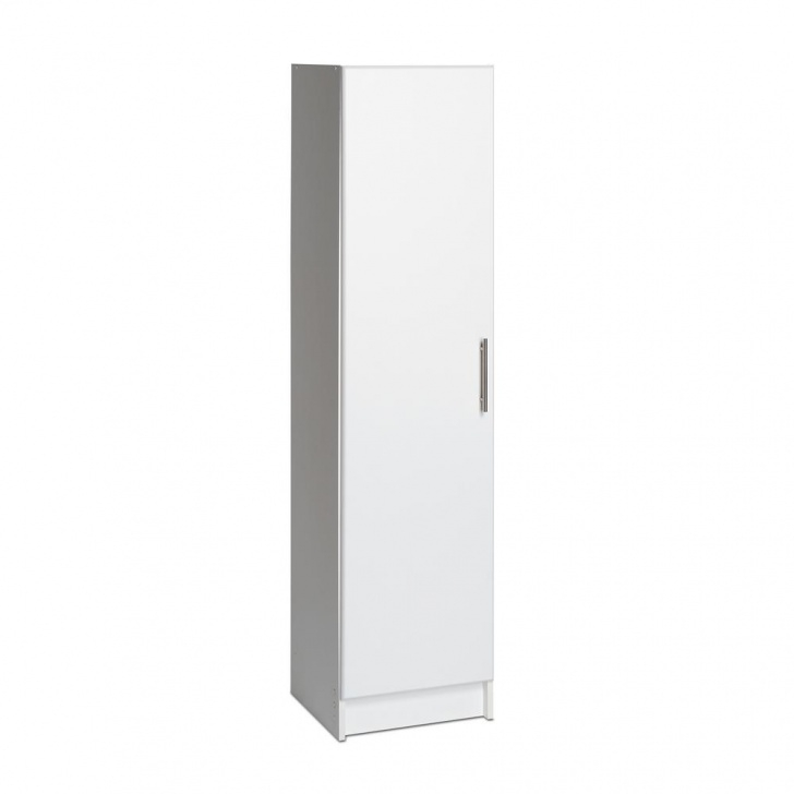 Wonderful Prepac Elite 65 In. H X 16 In. W X 16 In. D Laminate Wood Narrow White Narrow Wardrobe Photo
